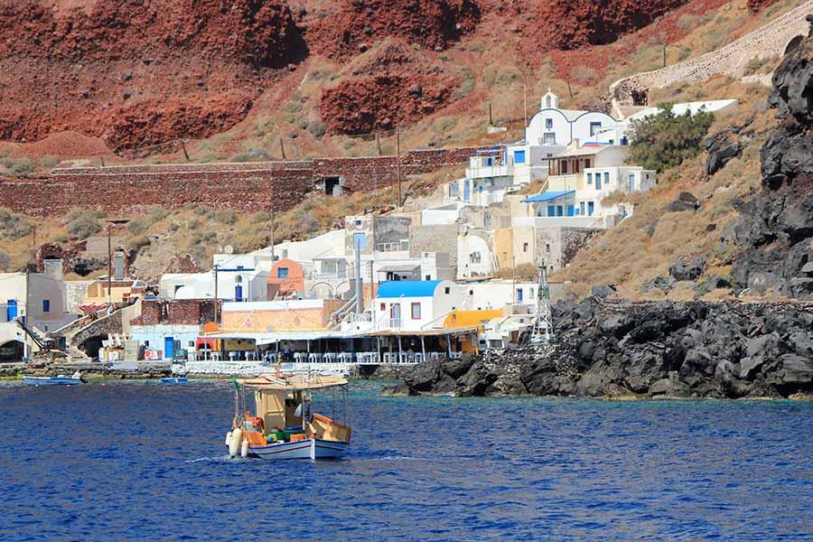 Thirassia-harbor-Santorini